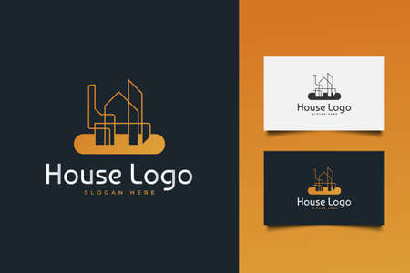 Real Estate Logo with Creative Concept. House, Architecture or Construction Logo