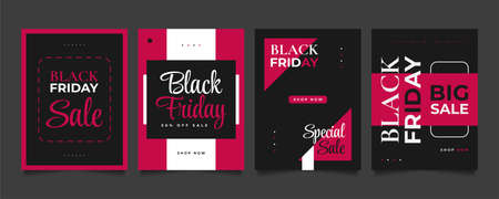 Black Friday Sale Banner or Poster Template. Black Friday Sale Inscription Design Template