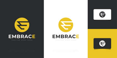 Modern and Abstract Letter E Design Template. E Symbol or Icon. Graphic Alphabet Symbol for Corporate Business Identity