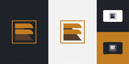 Abstract and Minimalist Letter F Design with Eagle Wing Concept. Graphic Alphabet Symbol for Corporate Business Identity