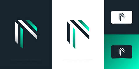 Modern and Abstract Letter F Design Template. Initial Letter F Ilustração