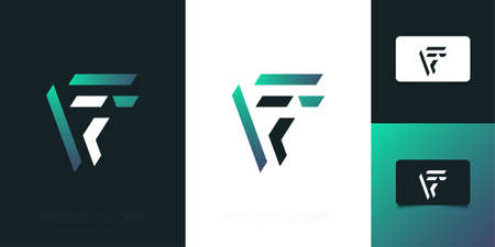 Modern and Abstract Letter F Logo Design Template with Minimal Concept. Graphic Alphabet Symbol for Corporate Business Identity Ilustração
