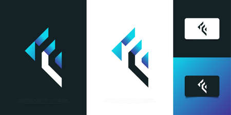 Modern and Abstract Letter F Logo Design Template. Graphic Alphabet Symbol for Corporate Business Identity Ilustração