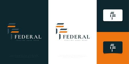 Elegant Initial Letter F and F Logo Design Template. FF Logo Design. Graphic Alphabet Symbol for Corporate Business Identity Ilustração