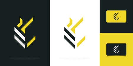Abstract Initial Letter E Logo Design Template. Letter E Monogram Logo. Graphic Alphabet Symbol for Corporate Business Identity Ilustração