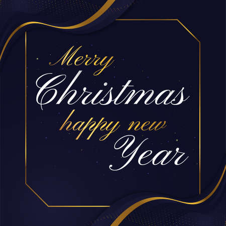 Elegant Christmas Typography for Greeting Card, Banner or Poster