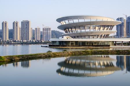 Changsha Sihu City Scenery Editorial