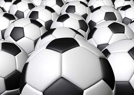 More soccer footballs in the frame  photo