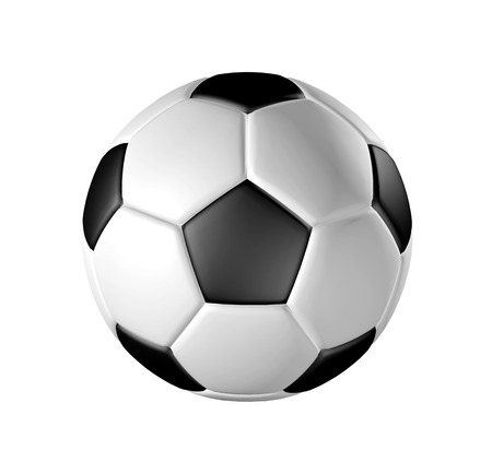 Front view of football  soccer ball  isolation with clipping path, easy for selection  Resolution up to A2 size printing