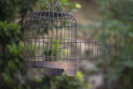 open cage in the house garden