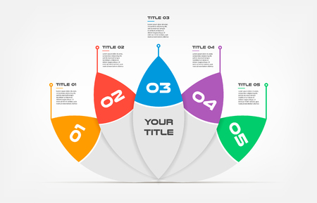 Ova-lotus text Infographic Templates for Business Vector Illustration, can illustrate a strategy, workflow or team work, timeline, vector flat color