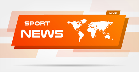 World News Live Banner on Wavy Lines Background. Business Technology News Background. Vector info-graphics business template for presentation.