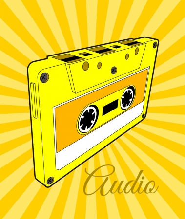 ligne: Audio Cassette Tape Illustration