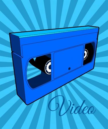 Vidéo d'enregistreur à cassettes Vecteurs