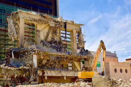 hydraulic: Hydraulic Crusher excavator machine at Site Demolition