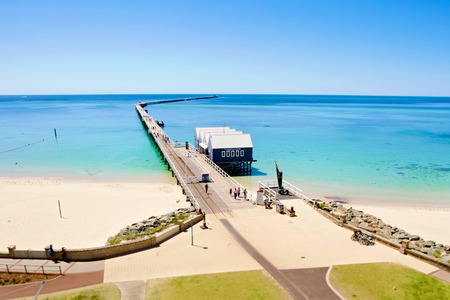 busselton: Busselton jetty train view from observation tower