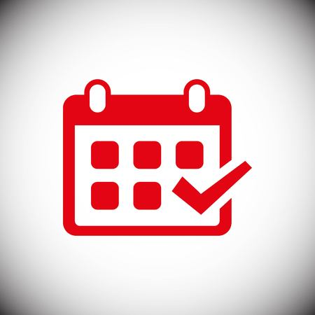 calendar vector web icon Illustration