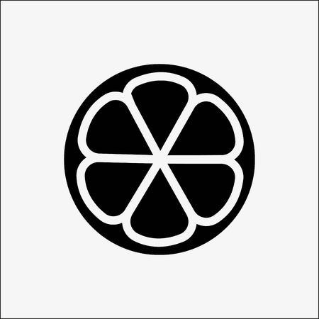 Lemon icon stock vector illustration flat design style