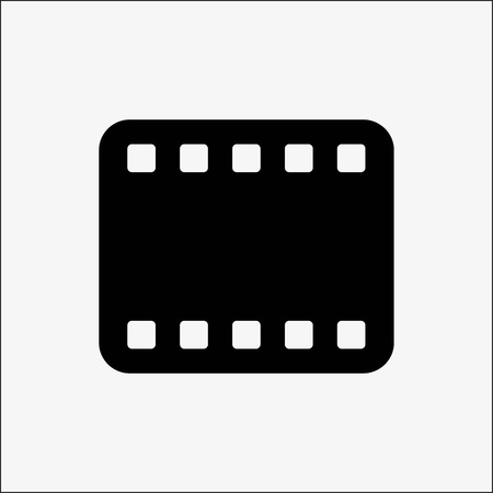 movie film: Video play icon stock vector illustration flat design style Illustration
