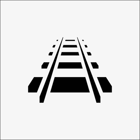 Railroad icon stock vector illustration flat design style