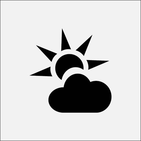 Weather icon stock vector illustration flat design style Illustration
