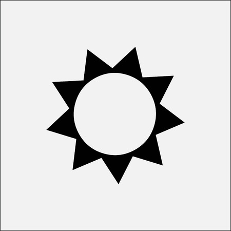 overcast: sun icon stock vector illustration flat design style