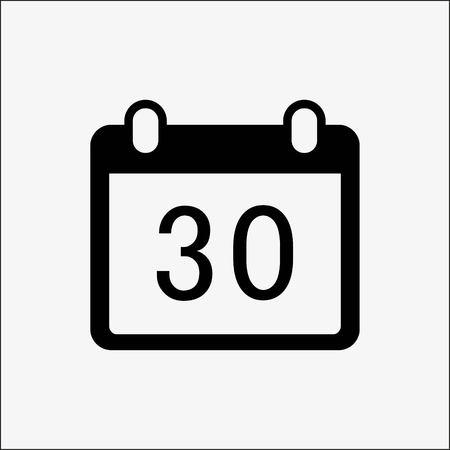 calendar web icon stock vector illustration flat design style
