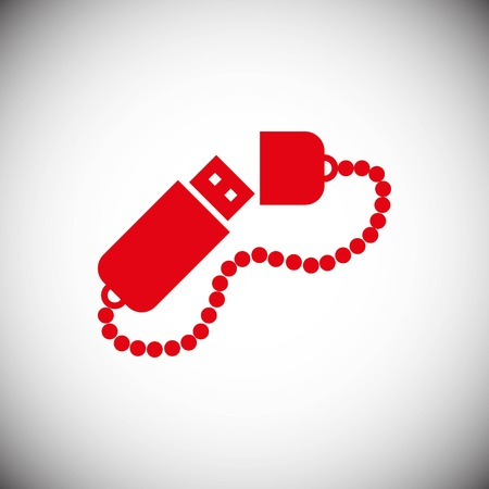 usb icon stock vector illustration flat design style Illustration