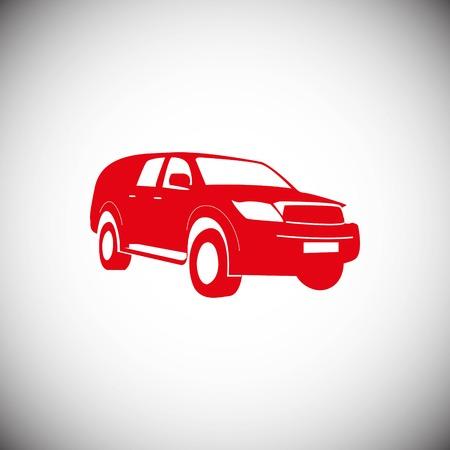 Car icon stock vector illustration flat design style Illustration