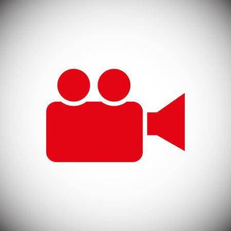 camera video icon stock vector illustration flat design style
