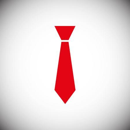 Tie icon stock vector illustration flat design style Illustration