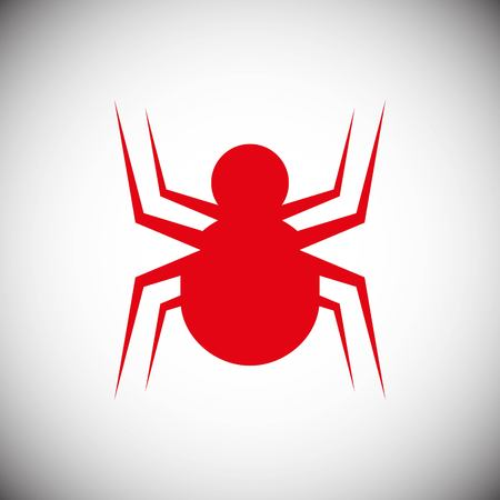 Spider icon stock vector illustration flat design style Illustration