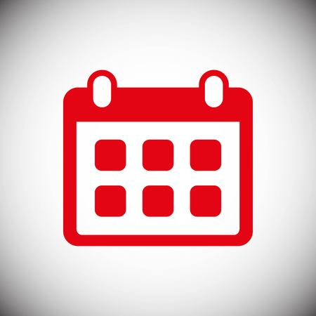 calendar icon stock vector illustration flat design style