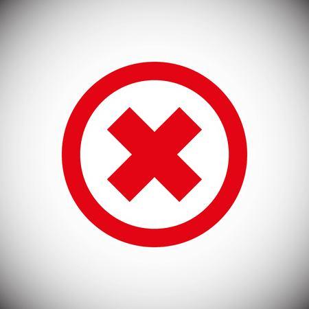 Delete icon stock vector illustration flat design style