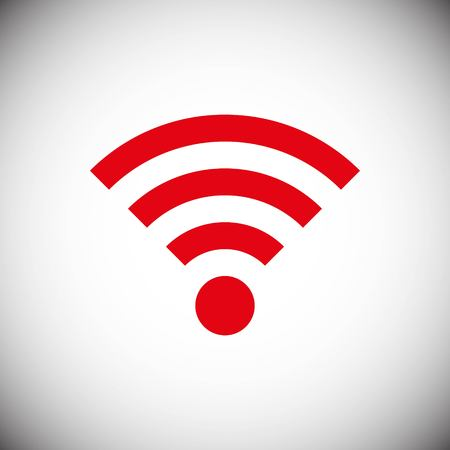 Wifi icon stock vector illustration flat design style Illustration