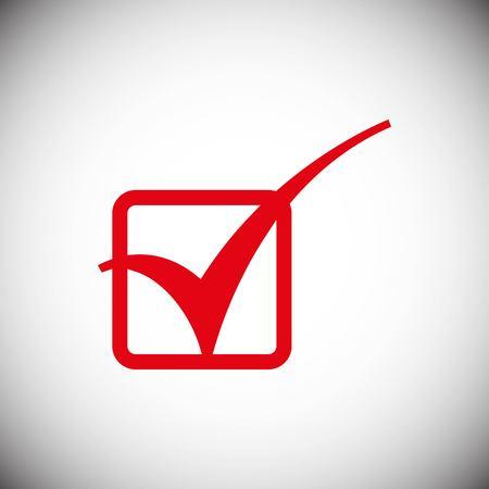 Confirm check icon stock vector illustration flat design style Illustration