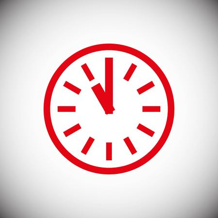 Clock icon stock vector illustration flat design style