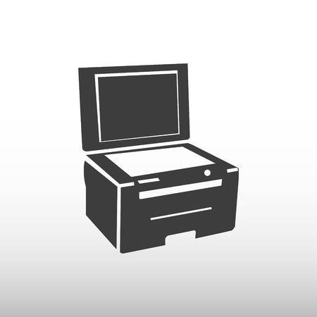 copy machine: icon stock vector illustration flat design style Illustration