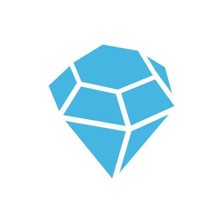 diamond stones: icon stock vector illustration flat design style Illustration