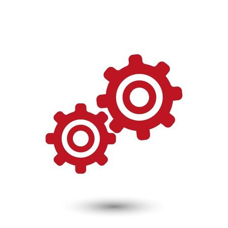 mechanism of progress: icon stock vector illustration flat design style Illustration