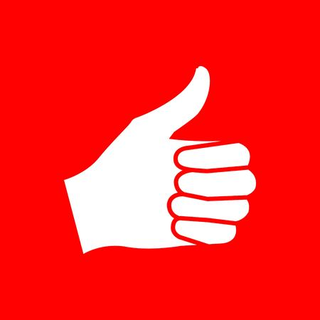 Thumps up Icon stock vector illustration flat design style