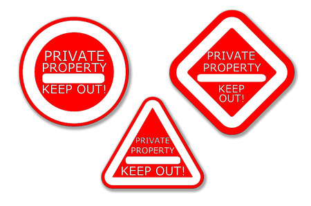 Private Property No Entry Sign photo