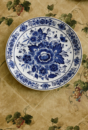 needlecraft product: dish on the wall