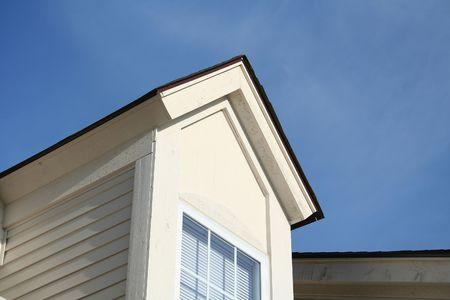 Edge of house with window photo