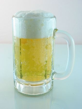 Foamy Ice cold beer in a mug