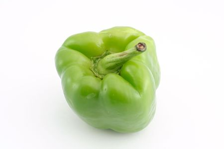 Green pepper on a white background Stok Fotoğraf