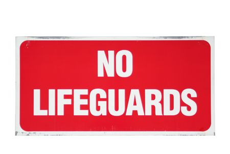 No lifeguards sign isolated Reklamní fotografie