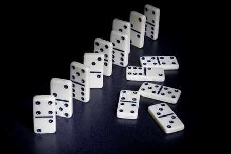 dominoes with the black background Stok Fotoğraf - 532017