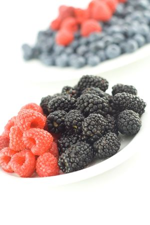 Mixed berries on a plate
