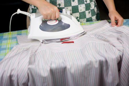 Dress shirt ironing